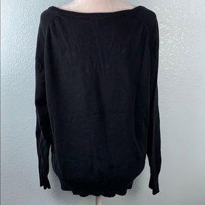 torrid Sweaters - **SOLD** Sweater Black Rhinestone Skull 20PE